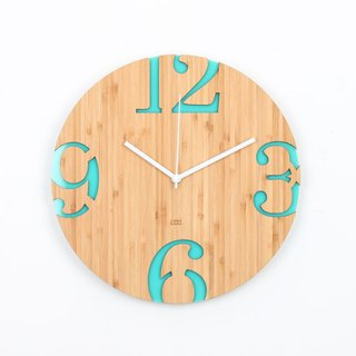 LOO Big Numbers Wall Clock Green