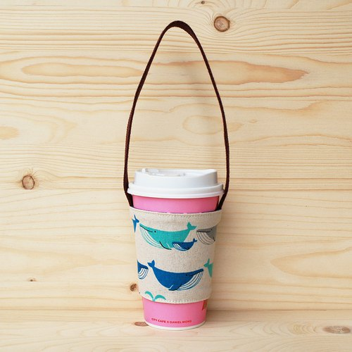 Whale Spray Beverage Bag/Cup Set