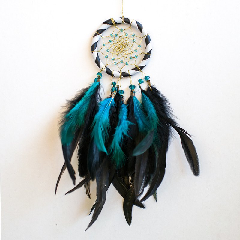 Black and White-Dream Catcher 8cm-Christmas Gift Exchange, Home Decoration