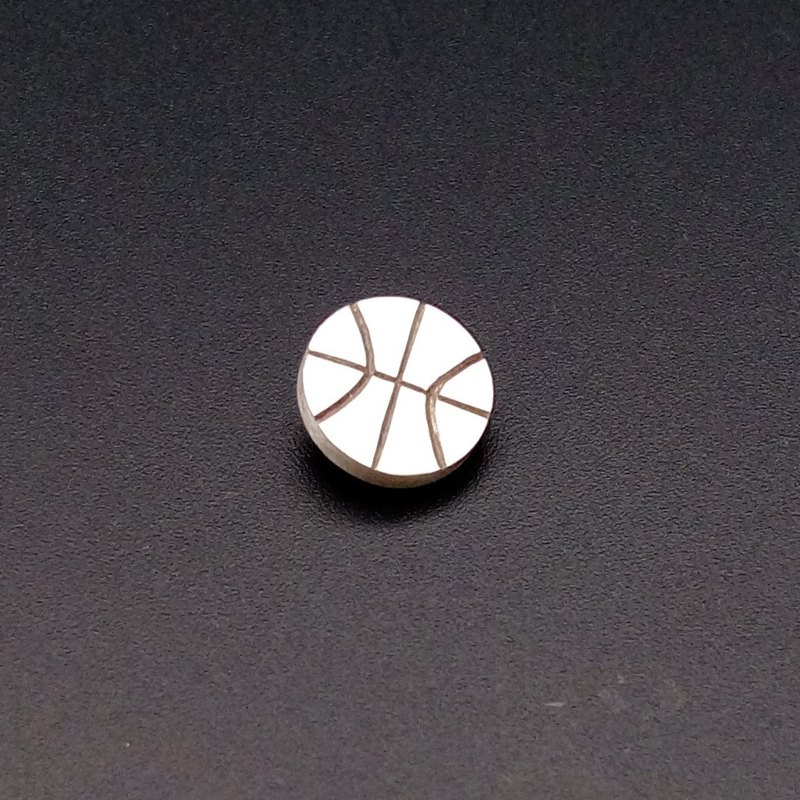 925 sterling silver sporty basketball earrings