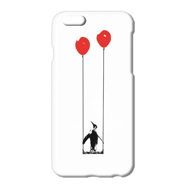 [IPhone case] penguin and balloon and swing