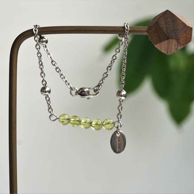 << modomodo birth stone bracelet >> August birthstone - olivine Olivine