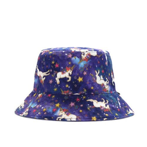 Blooming gilt sided star unicorn hat - blue