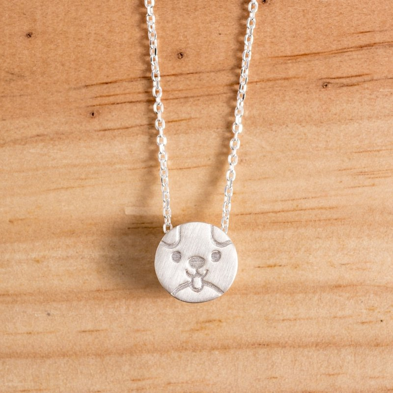 Dog Little Silver Necklace