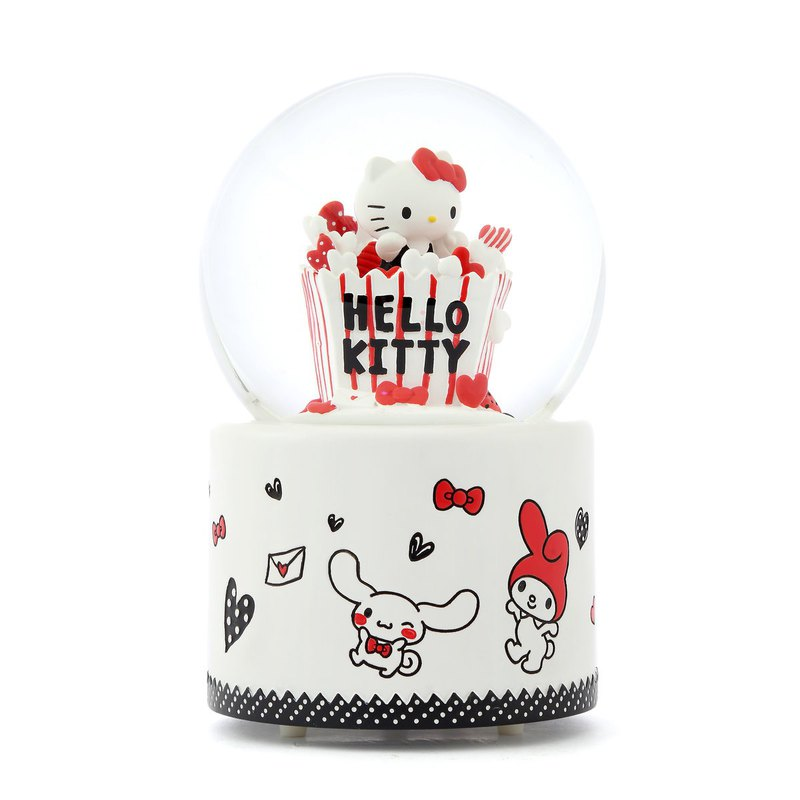 Hello Kitty Happy Party Crystal Ball Music Box Birthday Valentine's Day Christmas Gift Healing