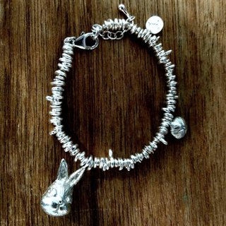 emmaAparty sterling silver bracelet: rabbit bean rabbit nose bracelet (three-dimensional works)