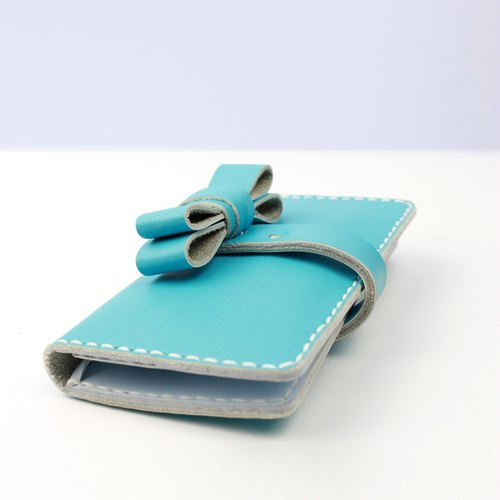 Zemoneni leather purse Wallet all purpose for coin card and money notes in Sky blue color