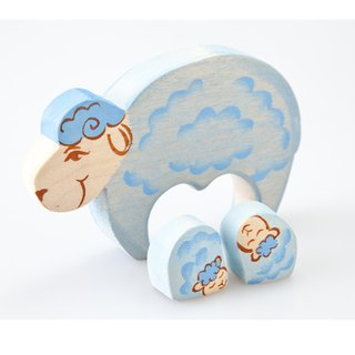 Russian Building Blocks - Beech Fairy Tales - Family Series: Sheep Family Children's Day Gifts/Gifts