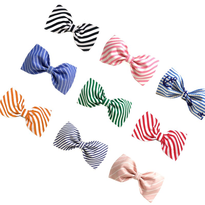 Ella Wang Design Bowtie Pet Bow Tie Bow Stripe Gentleman