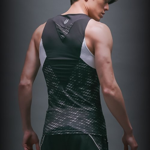 Force X 1.0 Boost CITY Glow kinetic pressure vest _ darkness