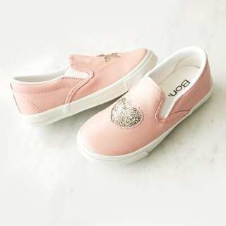 Asymmetric Glitter Star Heart Lazy Shoes - Frosting Powder