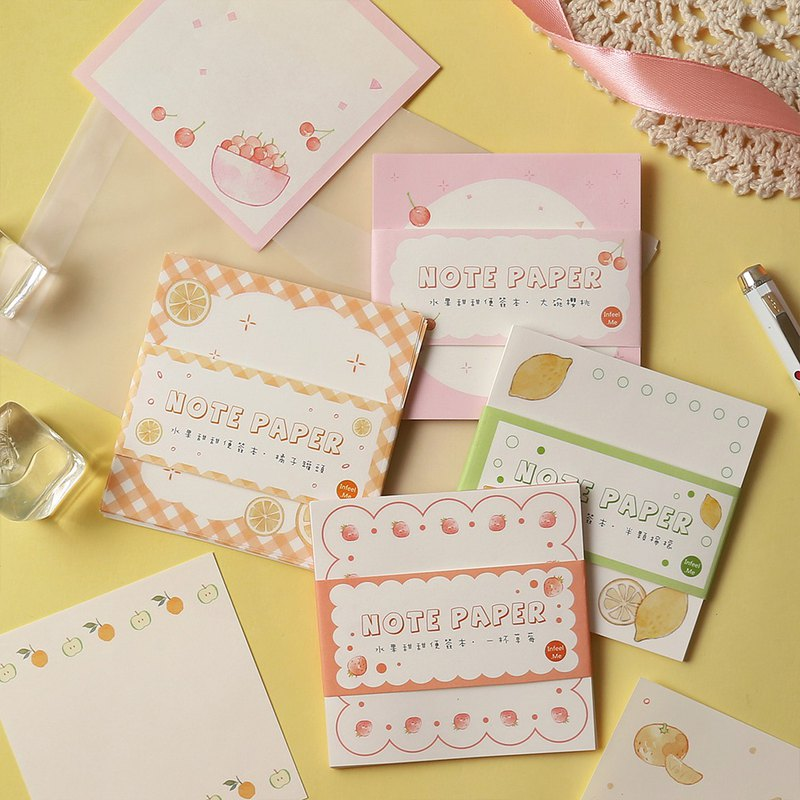 InfeelMe Warm Air Fruit Sweet Series Non-sticky Notes