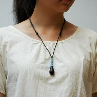 Wooden water drop necklace Wood Pendant
