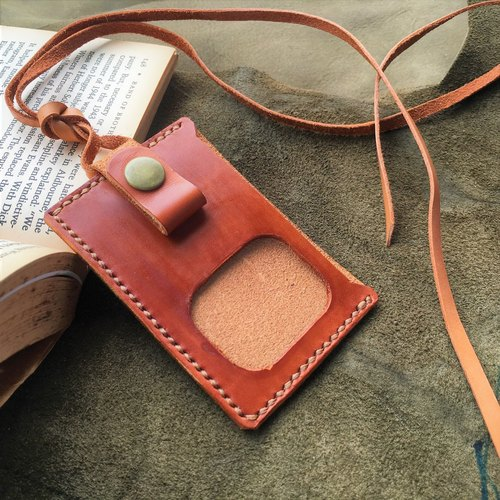 Hin window leather art - handmade leather - card sets of access control card sets keychain hand-made vegetable tanned chrome tanned customized custom Wen-ching