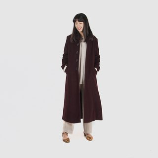 [Egg plant ancient] warm jujube sweet soup wool vintage coat