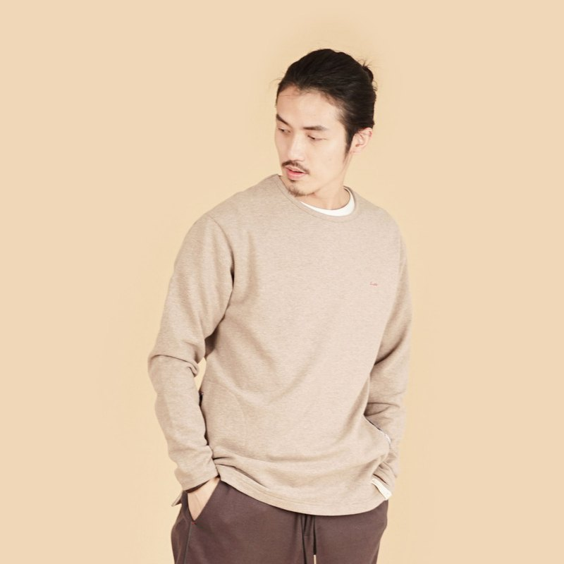 Collagen Thick Spinning Fleece Warm Round Neck Long Sleeve Knitwear (Men)-Five Colors