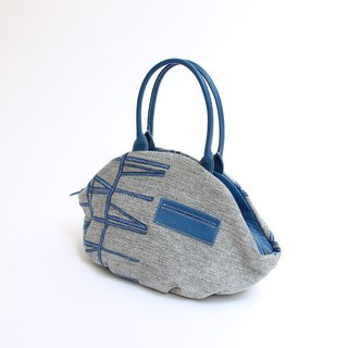 Vertical embroidery · almond bag