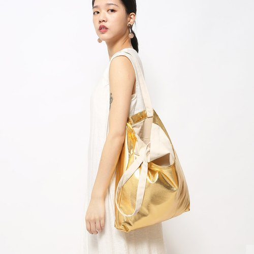 Five-cell bag canvas bag is particularly easy to use - shine gold
