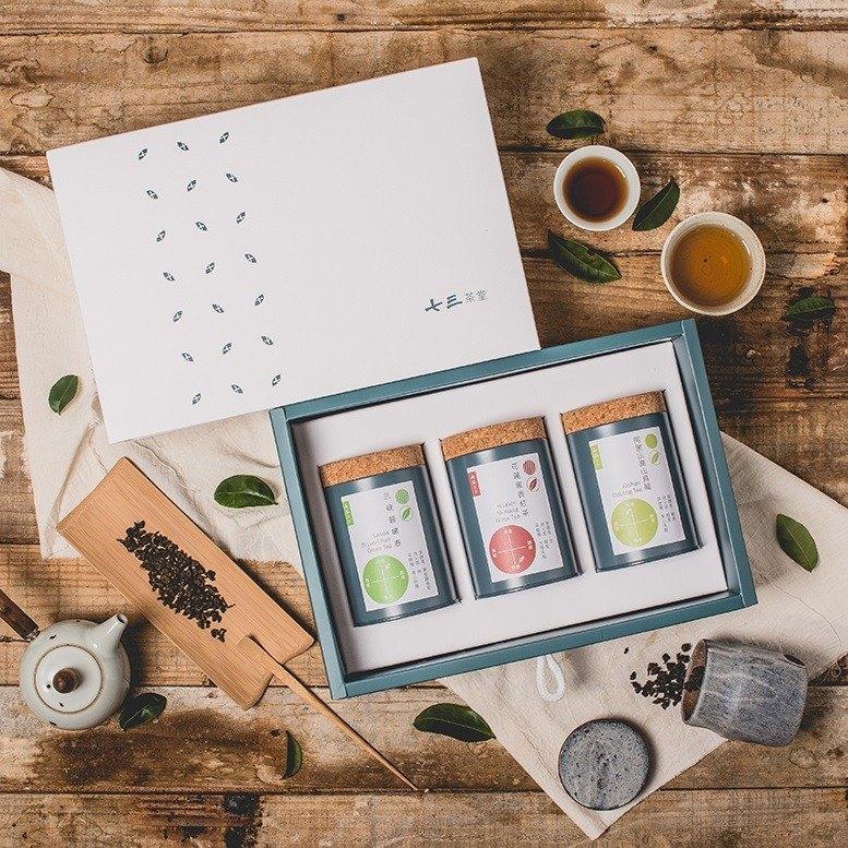 【送禮首選】經典台灣茗茶禮盒 - 3入小茶罐