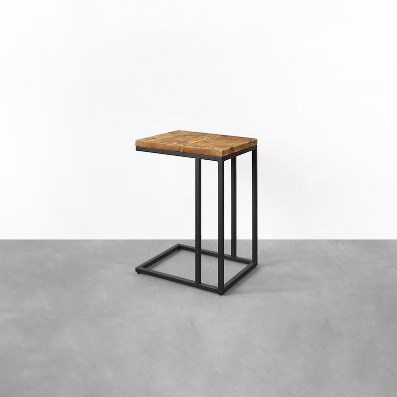 Industrial wind iron wood side table can be customized CU040