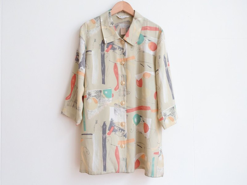 Vintage / shirt / brand new seven-point sleeve no.228 tk