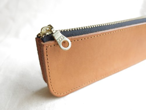 Piece of LBT Loquat brown boutique zipper pencil case [jane_one_PIECE]