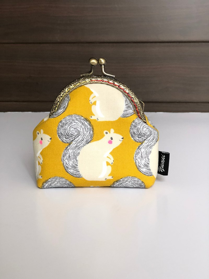 Small squirrel mouth gold bag, coin purse