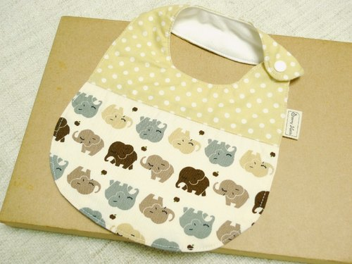 Cute little elephant - baby bibs baby towels, bibs