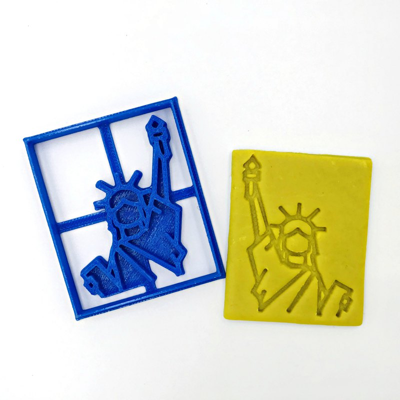 Statue of Liberty Cookie Cutter Set - Lady Liberty, USA New York Landmark