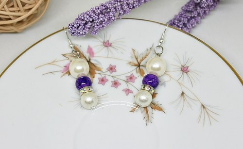 * _ * Wisteria alloy hook earrings ➪ Limited X1