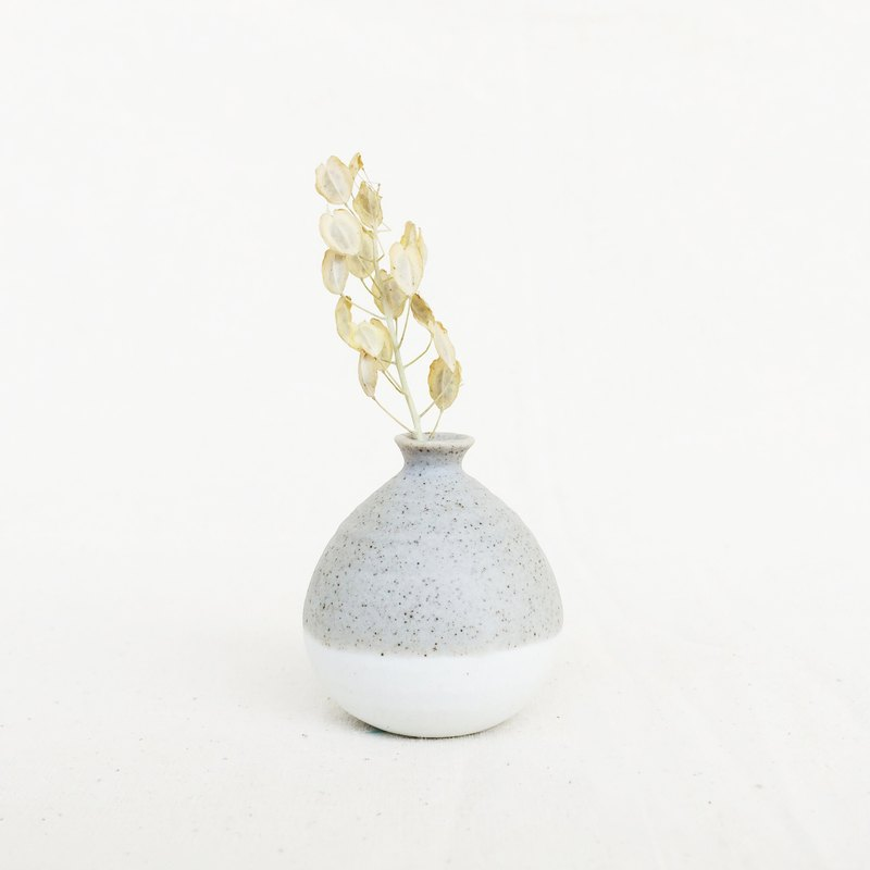 Handmade Ceramic Mini Vase-Pastel Grey