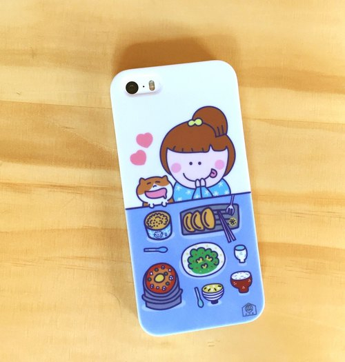 Eat everyday phone case (IPHONE I7 I6 I5 HTC Samsung SONY) Foodie glutton phone case