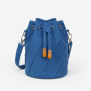 Washed canvas bucket bag SEWING stitching craft canvas shoulder strap version Valentine's Day gift