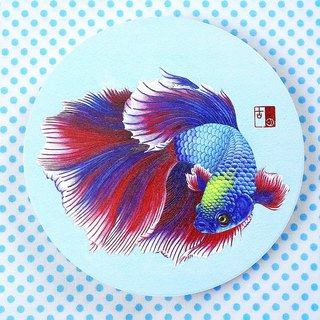 Gorgeous betta water coaster