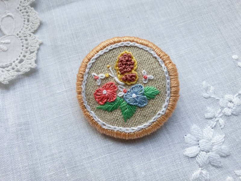 Embroidery Brooch (Spring)