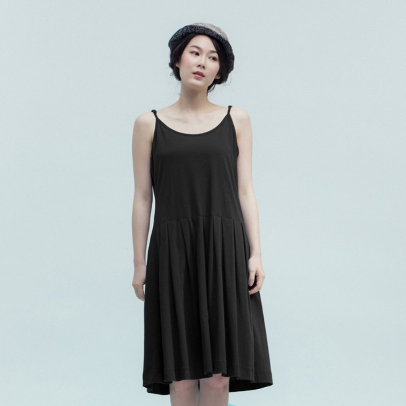 Nature's locker room with cotton dress - black shadow
