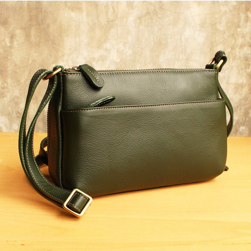 Cross Body Bag - Candy - Green (Genuine Cow Leather) / 皮 包 / Leather Bag
