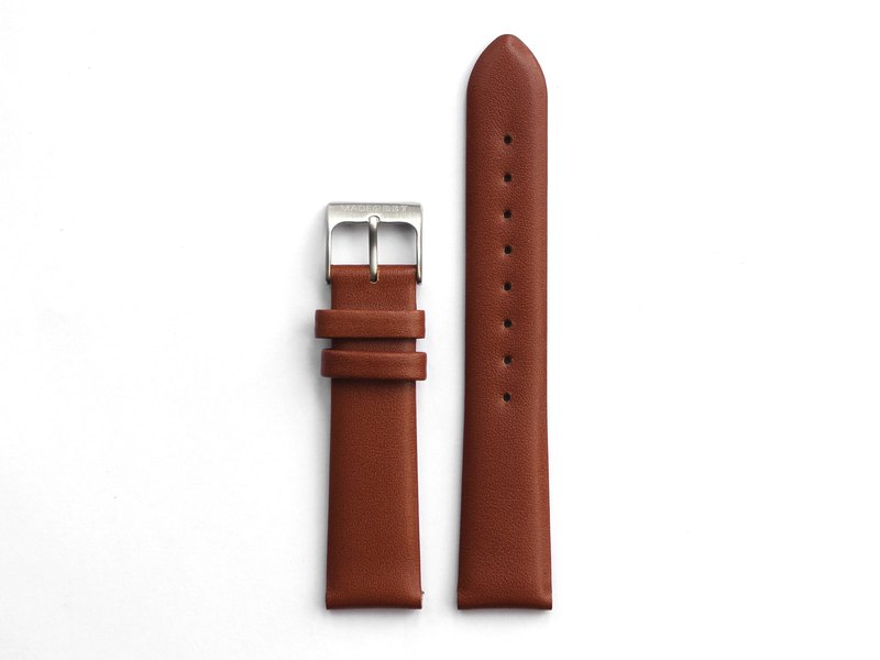 MG002 strap | silver buckle x leather belt