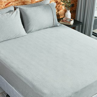 [Ultimate skin-friendly] organic cotton knit bed bag - twist gray
