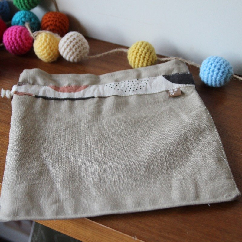 Cotton Fabric: Drawstring Bag for Camping ball, simple version, light khaki series, for purchase options