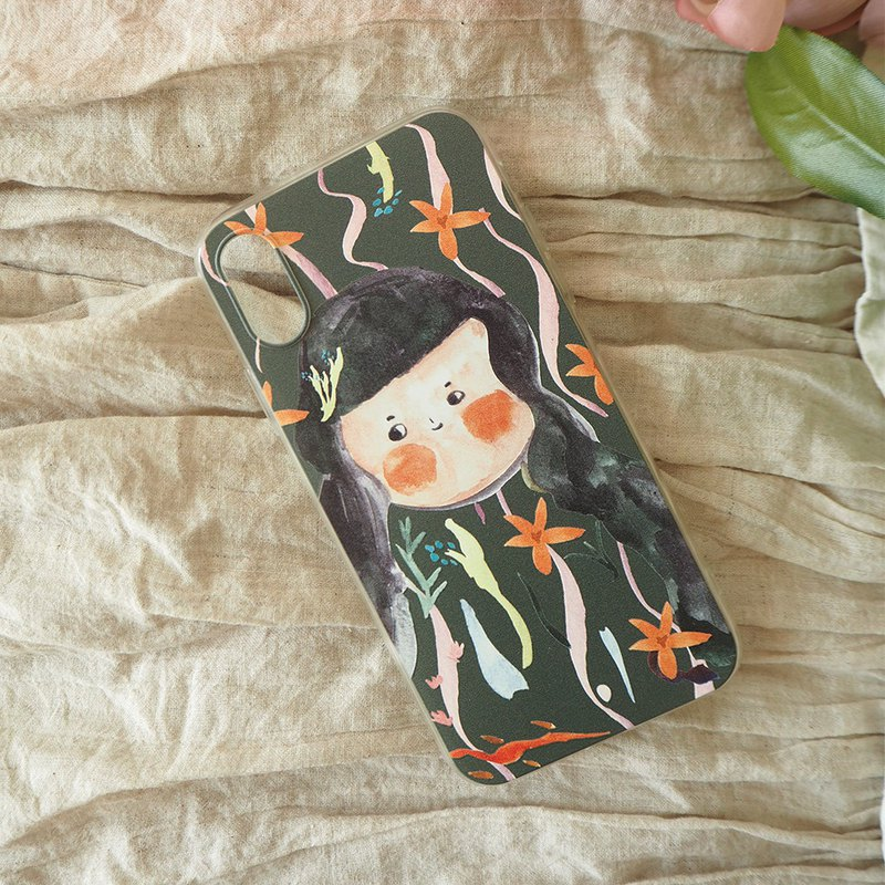 Happy seaweed buns Miss mobile phone shell can be customized various models of new mobile phone shell
