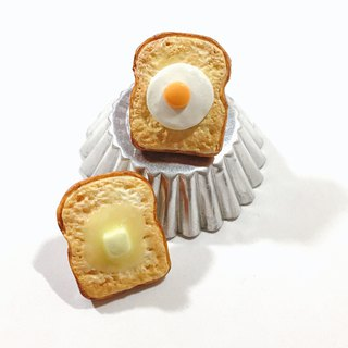 Nutritious Full Breakfast Toast Brooch | Simulation Food Clay Pin