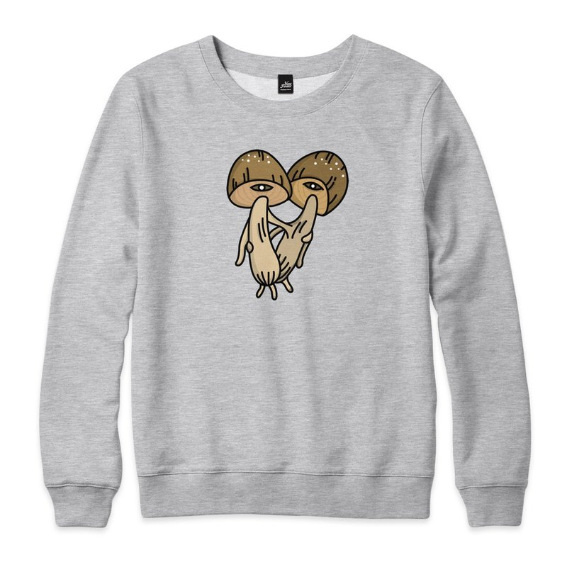 Hug Mushroom - Straw Mushroom - Deep Hemp Gray - Neutral University T