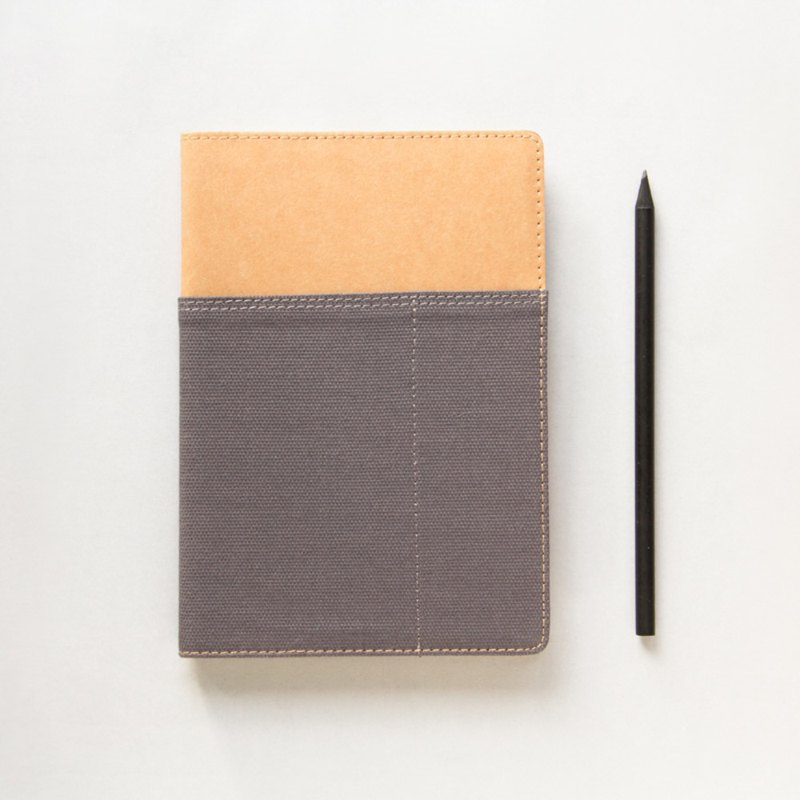 A5S-GK Gasket-Canvas Notebook (Grey)