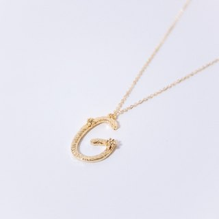 Flower vine letter necklace G