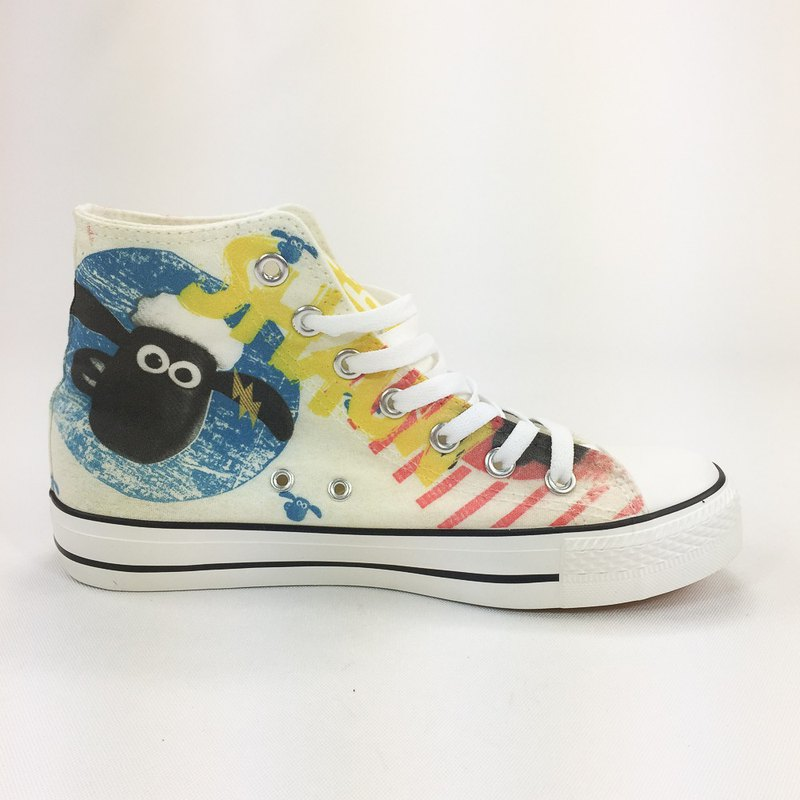 Shaun The Sheep License - Canvas Shoes (White Shoes Leucorrhea) -AI01