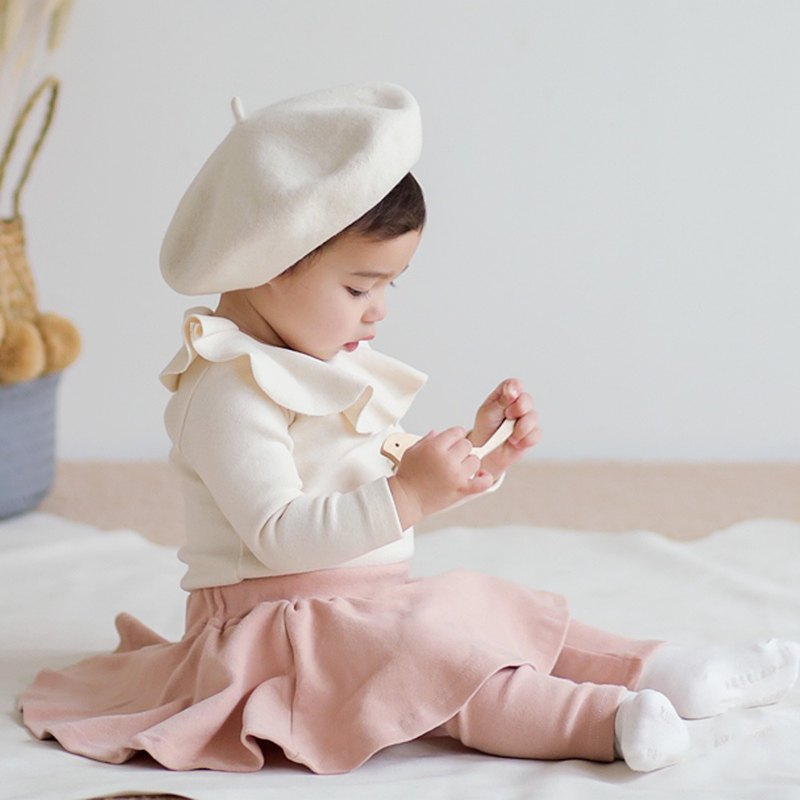 Happy Prince Eka fake two-piece baby girl skirt inside pants made in Korea