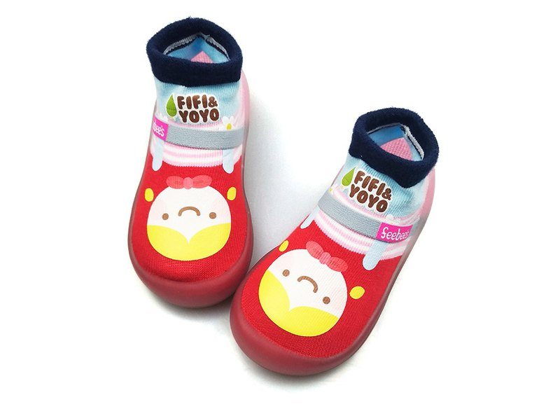 Feebees toddler shoes/socks shoes/children's shoes fantasy island series Little Red Riding Hood Made in Taiwan