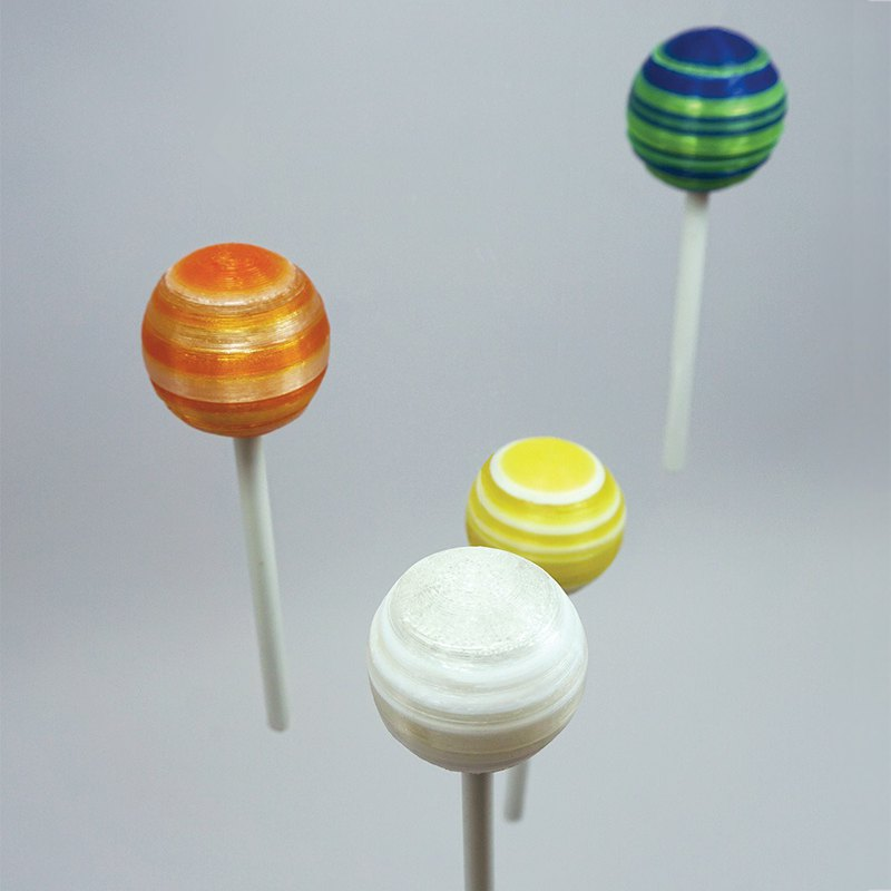 Lollipop Pre-Inked Flash Stamp, customized stamp - HARD PLASTIC