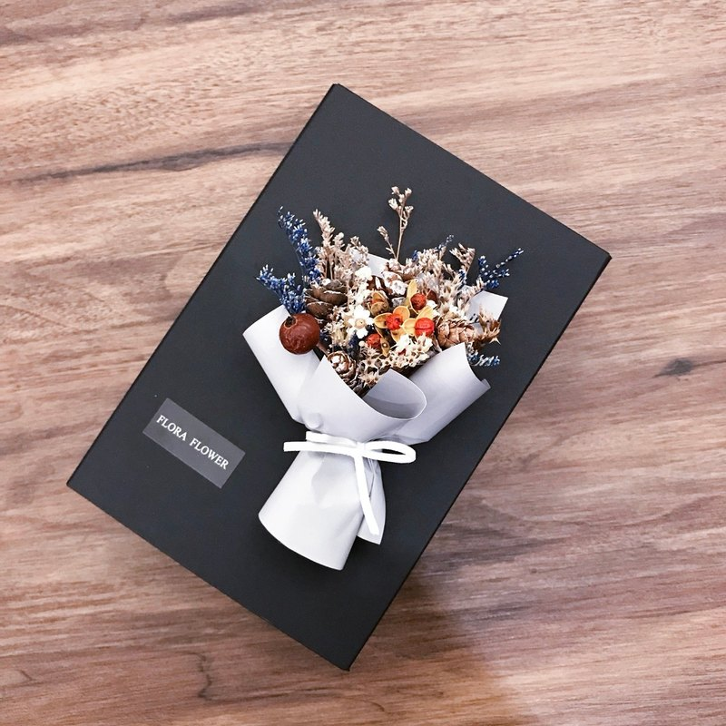 Korean Dry Bouquet Packaging Gift Box (Christmas Style) - Wedding Gift Box Dry Flower Packaging Box